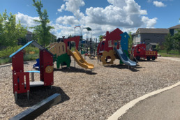 Bright and cheerful playground for toddlers in the neighbourhood of Jesperdale.