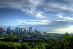 Downtown Edmonton, Alberta view from a distance. An easy commute from Spruce Grove into Edmonton.